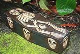TikiMaster MEDIUM TREASURE CHEST BOX 12'' - SKULL & BONES DECOR