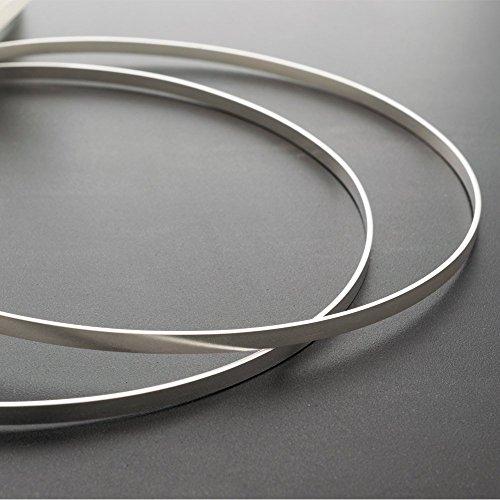 Stefana, pair of handmade minimalist 925 solid sterling silver greek wedding crowns,orthodox wedding silver headbands handmade by Emmanuela by Emmanuela - Art in silver