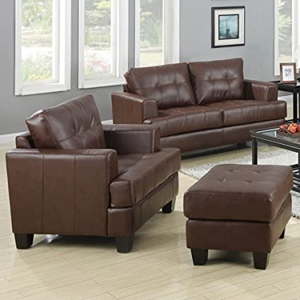 Amazon com: Deluxe Thick Upholstered Bonded Leather 67 5