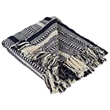 DII Farmhouse Cotton Stripe Blanket Throw with Fringe For Chair, Couch, Picnic, Camping, Beach, & Everyday Use , 50 x 60' - Braided Stripe Navy