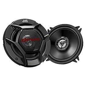 "Kenwood KMM-BT322U Car Stereo Bluetooth USB/AUX Digital Media Receiver Bundle Combo With 4x JVC CS-DR520 5-1/4"" 520 Watt 2-Way Black Audio Coaxial Speakers + Enrock 50-Foot 16-Gauge Speaker Wire"