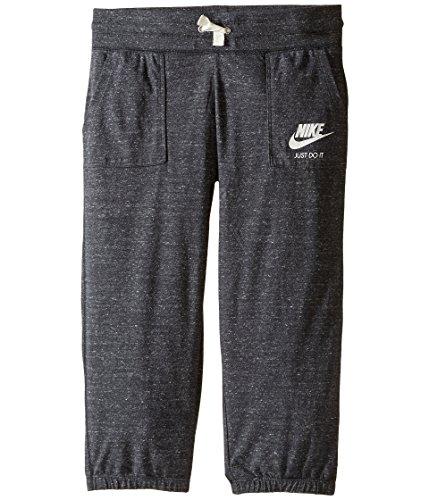 (Nike Sportswear Gym Vintage Knit Capri Sweatpants (Anthracite/Sail, Medium))
