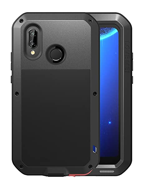 on sale e0b9e 0940a Huawei P20 Pro Case, Love mei Full Body Outdoor Shockproof Heavy Duty  Hybrid Aluminum Metal Armor Dirtproof Cover Shell for Huawei P20 Pro 6.1  inch ...