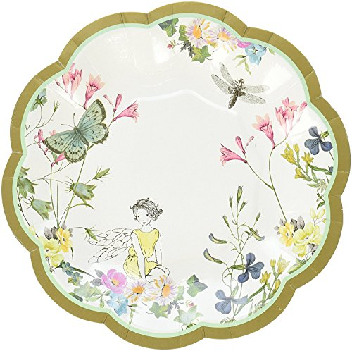 Talking Tables Truly Fairy Paper Plate with Fairy Design for a Tea Party or Birthday, Multicolor (24 Pack)