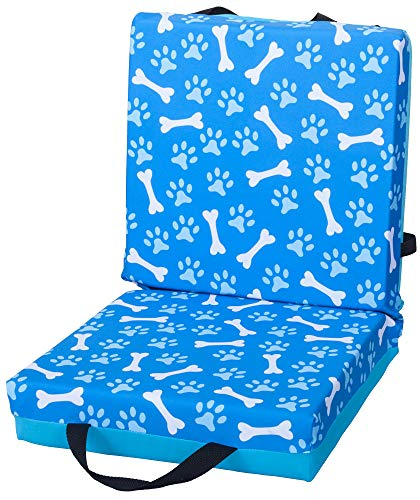 ABS Novelties Paws and Bones Pattern Double Cushion Blue