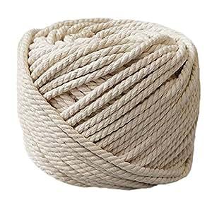 Cuerda trenzada de algodón 100% de PYJTRL (0,2 cm, 0,3 cm, 0,4 cm, 0,5 cm)