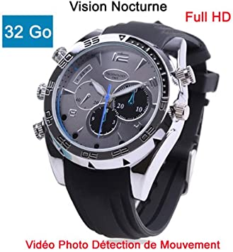 Cyber Express Electronics Reloj Mini Cámara Espía 32 GB Full HD 1920 x 1080 visión Nocturna Sensor de Movimiento Modelo Biz M32: Amazon.es: Electrónica