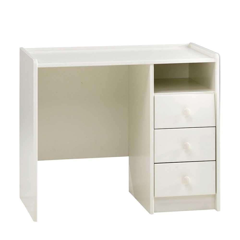 Pharao24 Schreibtisch in Weiß Kinderzimmer