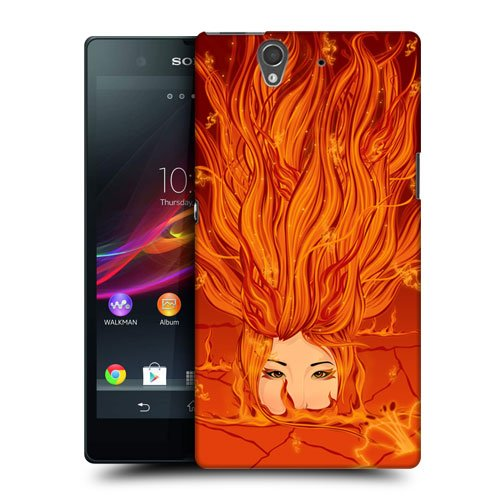 Head Case Designs Fire Deity Goddesses of Elements Protective Snap-on Hard Back Case Cover for Sony Xperia Z C6603