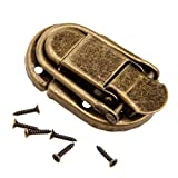 Dophee 5Pcs 2.36''x1.34'' Retro Suitcase Chest Box Lock Hasp Toggle Latch Jewelry Box Buckle for Decoration