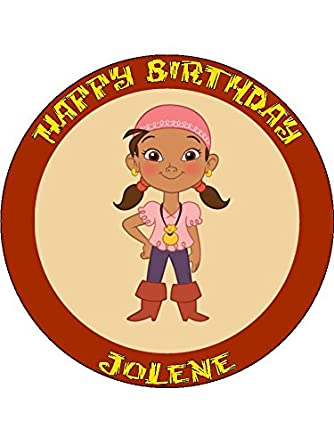 Magnificent Jake And The Neverland Pirates 3 7 5Inch Round Personalised Personalised Birthday Cards Fashionlily Jamesorg
