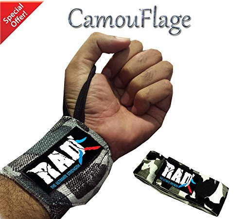 RAD Weight Lifting Training Wraps Wrist Support Gym Fitness Bandage 18