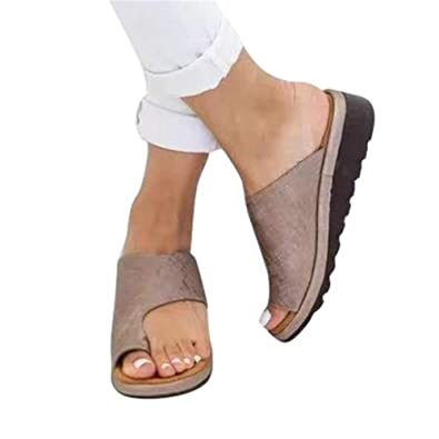 Women Comfy Platform Sandal Casual Shoes Summer Beach Travel Shoes Bunion Splint Slippers Pain Relief Hallux Valgus Correction
