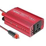 300W Inversor de corriente de Coche Transformador Voltaje Portable 12V a 220V con Dos Puertos para Cargar / Toma de Encendedor Mechero de Coche - Milool
