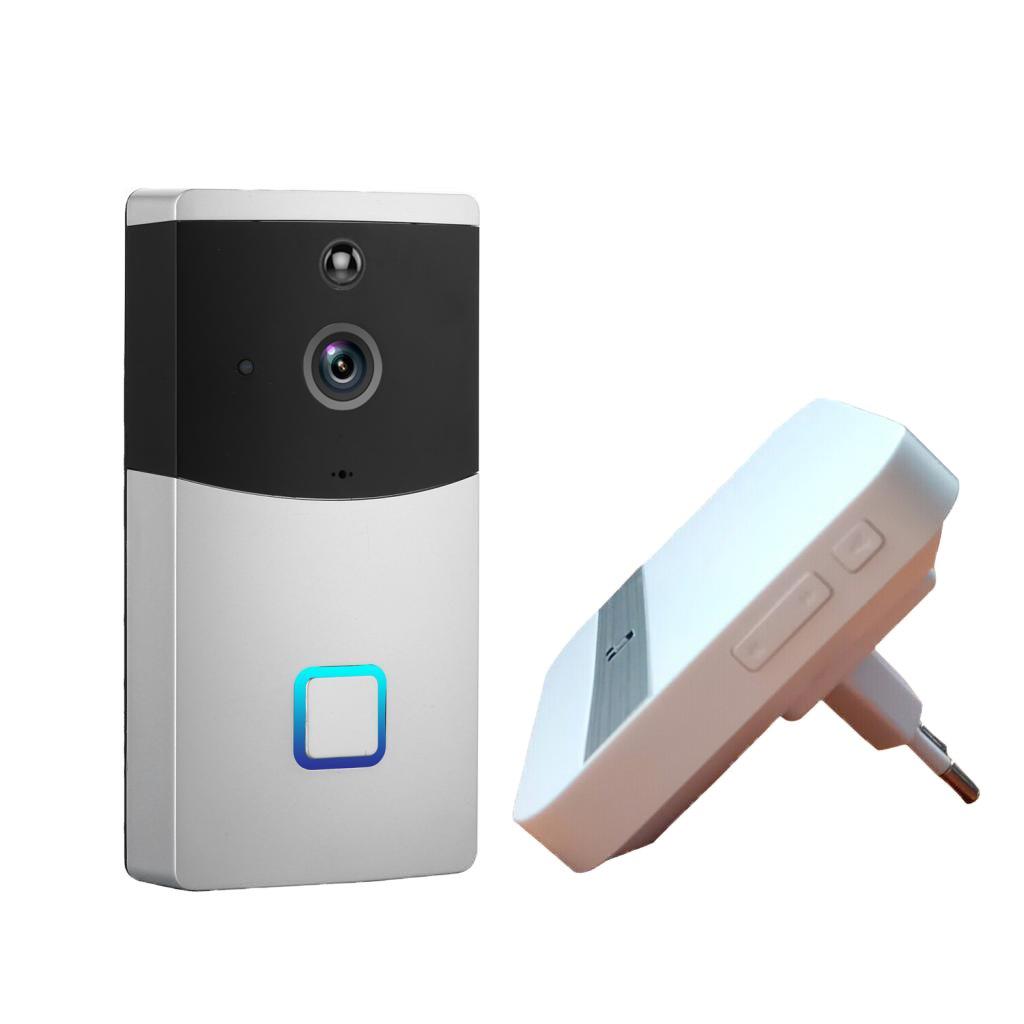 MagiDeal Wifi Video Türsprechanlage Türklingel Gegensprechanlage Intercom System,Appgesteuert, IR Nachtsicht, 55 Klingeltöne