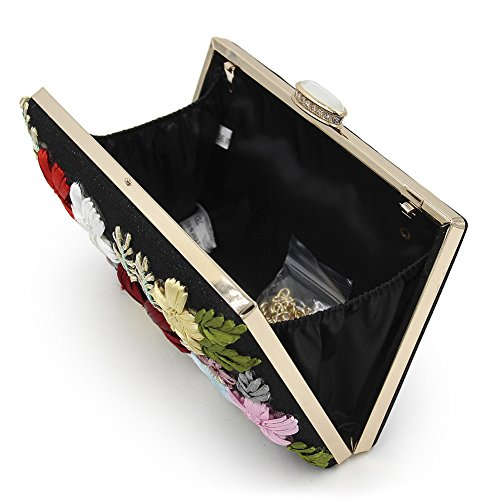 Onfashion Womens Embroidery Flower Evening Bag Party Purse Handbag Clutch Bags: Handbags: Amazon.com