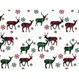 Plaid Deer 30'' x 150' Gift Wrap Roll
