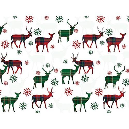 Plaid Deer 30'' x 150' Gift Wrap Roll
