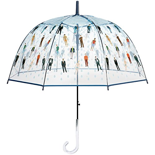Raining Men Clear Bubble Dome Umbrella - Perfect White Elephant Gift, or Birthday Gift ()