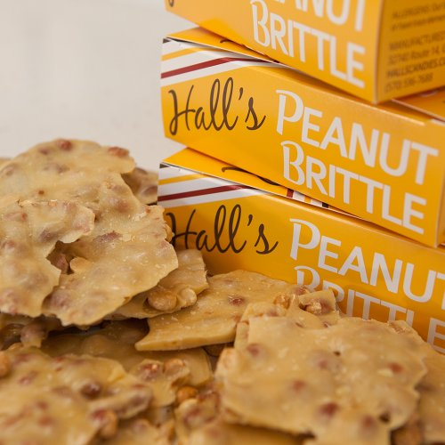 Brittle Candy (Hall's Peanut Brittle, 13 oz)