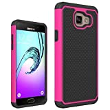 Galaxy A5 2016 Case,Galaxy A510 Case,ANLI(TM)[Shock Absorption Series] Drop Protection Hybrid Dual Layer Armor Defender Protective Cover Case for Samsung Galaxy A510 Rose Red