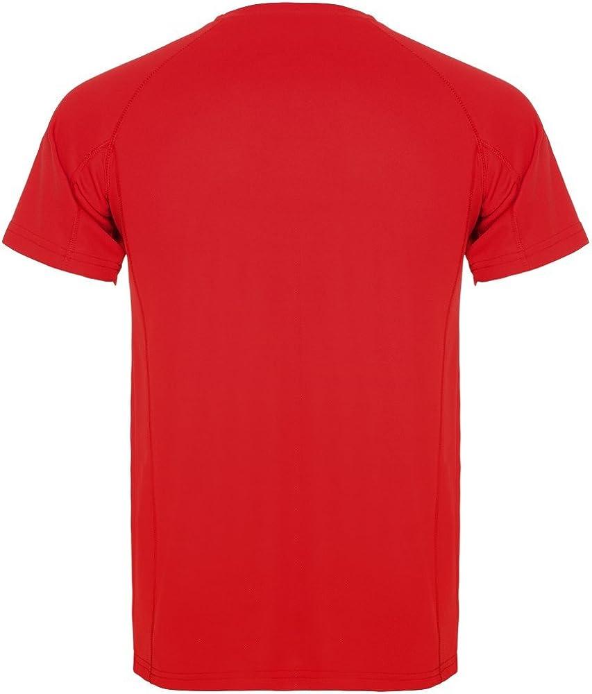 Roly Camiseta técnica para Hombre Montecarlo, roja: Amazon.es ...