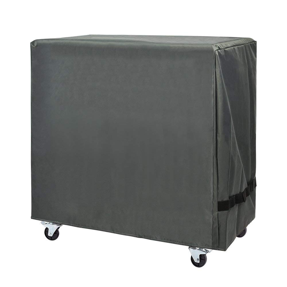 Cooler Cart Cover - Universal Fit for Most 80 QT,Waterproof Thickened Fabric,Rolling Cooler (Patio Cooler,Beverage Cart, Rolling Ice Chest) Protective Cover (Grey)