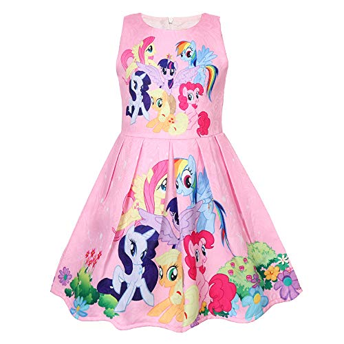 Toddler Girls' Unicorn Fancy Party Sleeveless Dress Pink 4-5Y -
