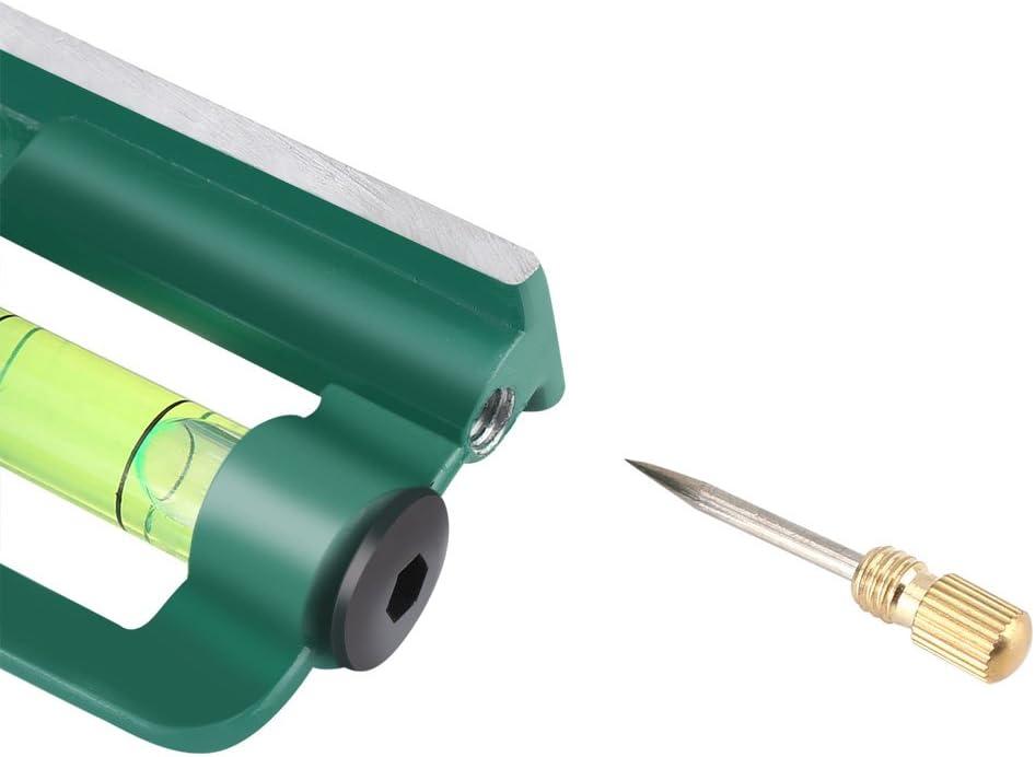 Akozon R/ègle 45//90 dangle de place de combinaison multifonctionnelle de 300mm avec le niveau de bulle