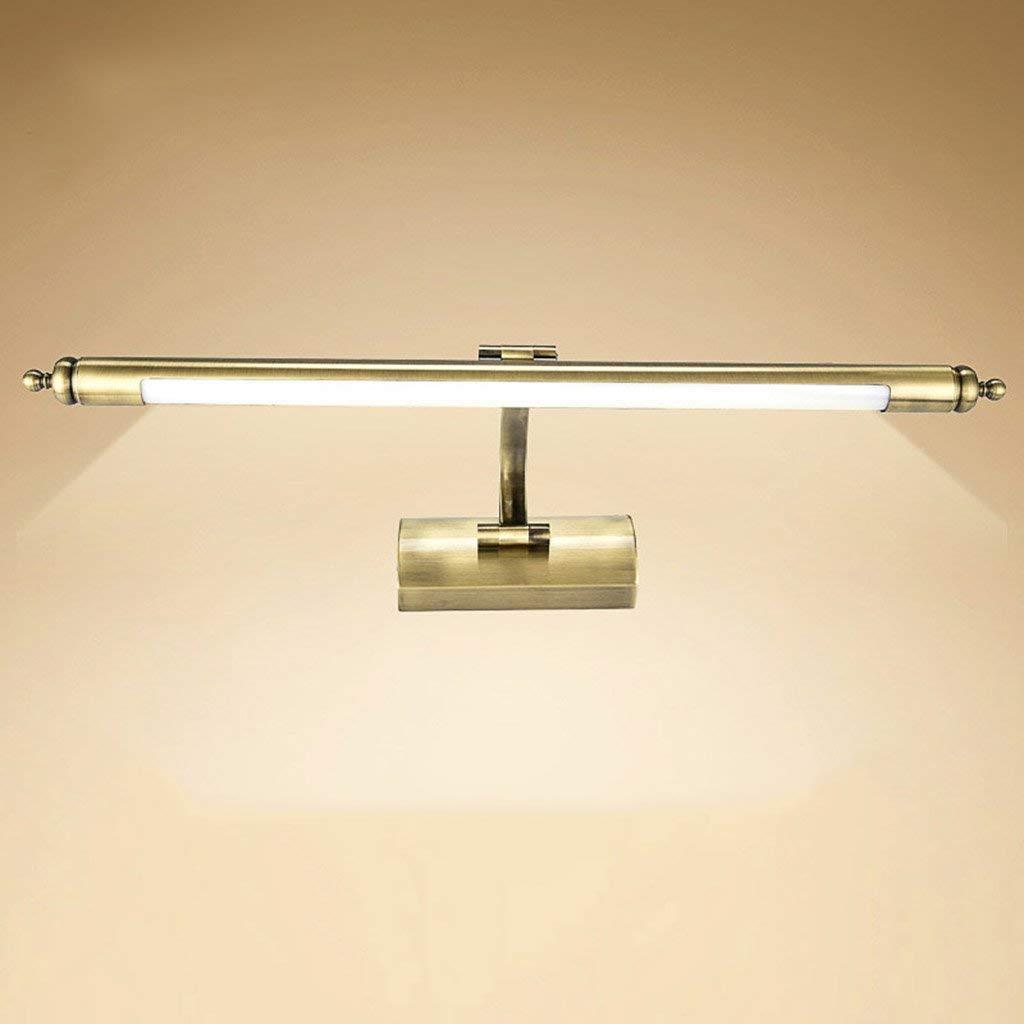 Gr/ö/ße: 56cm Oudan Spiegel Scheinwerfer Bad Spiegel Lampen Badezimmer Beleuchtung Bronze LED Messing Schlafzimmer Kommode Vintage Acryl Make-up Lampe Warmes wei/ßes Licht Farbe : -, Gr/ö/ße : 56cm