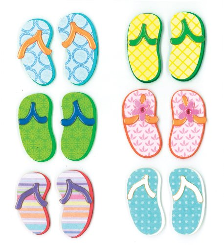 K&Company Flip Flop Grand Adhesions Stickers
