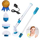 bathroom electric scrubber - Electric Spin Scrubber , SIEGES Automatic Electric Cleaning Brushes Rechargeable Cordless Power Scrubber with 3 Replaceable Brush Heads for Toilet Bathroom Windows Kitchen Floor…