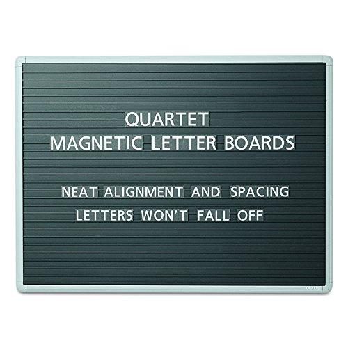 Quartet Letter (Quartet 903M Magnetic Wall Mount Letter Board, 36 x 24, Black, Gray Aluminum Frame)