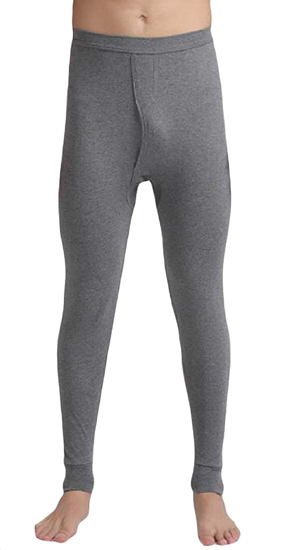 Macondoo Mens Legging Solid Color Underwear Base Layering Stretchy Johns