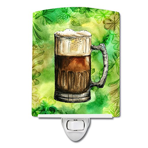 Caroline's Treasures Irish Beer Mug Ceramic Night Light, 6 x 4