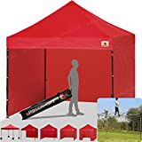 ABCCANOPY 18+ colors 8ft by 8ft Ez Pop up Canopy Tent Commercial Instant Gazebos with 4 Removable Sides and Roller Bag and 4x Weight Bag (red) Review