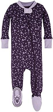 Burt's Bees Baby-Boys Sleeper Pajamas, Zip Front Non-Slip Footed Sleeper Pjs, 100% Organic Cotton Slee