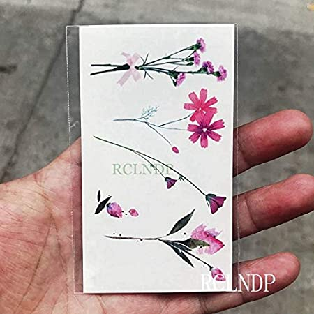 5pcs Tatuaje Impermeable engomada de la Flor de Cerezo Rosa ...