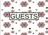 """Guests: Christmas Snowflakes, 8.25"""" x 6"""", Classic Guest Book, 100 pages, Professional Binding"""