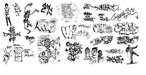 (N Scale Custom Graffiti Decals #37 - Great for Weathering Box Cars, Hoppers, Gondolas and More!)