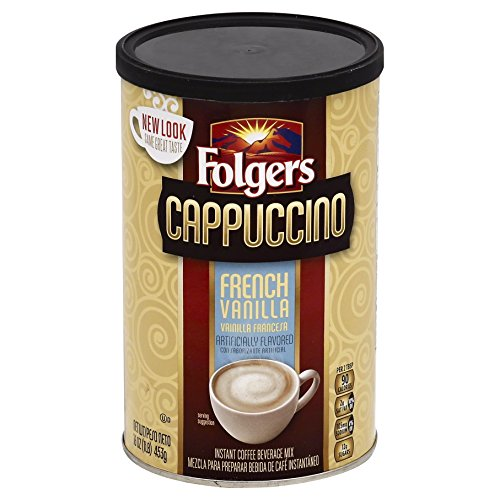 (Folgers Cappuccino French Vanilla Beverage Mix, 16 Ounce, 6)