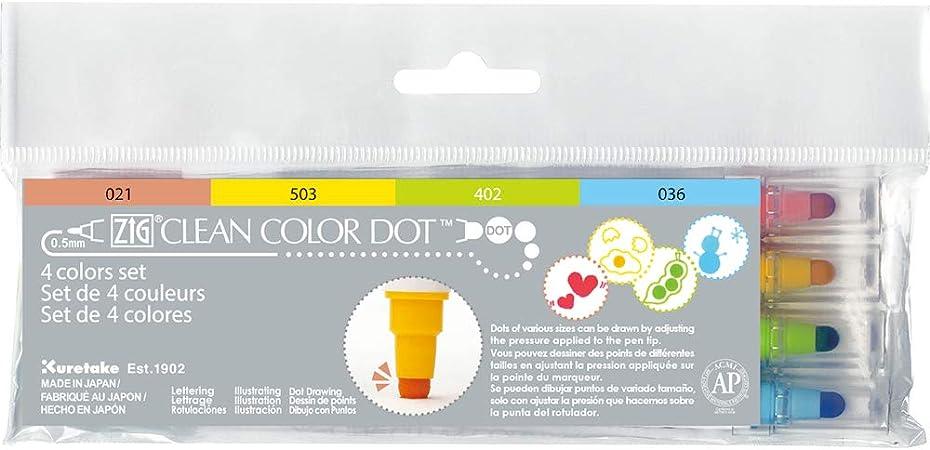 Kuretake ZIG Clean Color Dot Dual-Tip Markers 12//Pkg-Assorted Colors