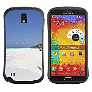 LASTONE PHONE CASE / Suave Silicona Caso Carcasa de Caucho Funda para Samsung Note 3 N9000 N9002 N9005 / Nature Beautiful Forrest Green 150