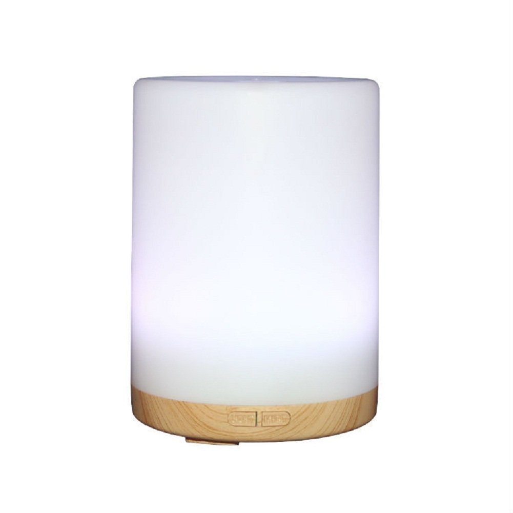 Deerbird 200 ML Wood Grain Base Aromatherapy Essential Oil Diffuser Cool Mist Humidifier Air Purifier with 7 Changing LED Colors and Waterless Auto Shut-off