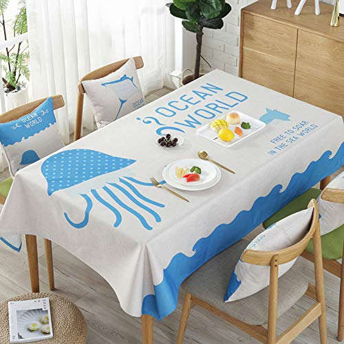 Picnic Home Decoration High-Grade Rectangular Waterproof Tablecloth 140180Cm,Great for Buffet Table, Parties, Holiday Dinner