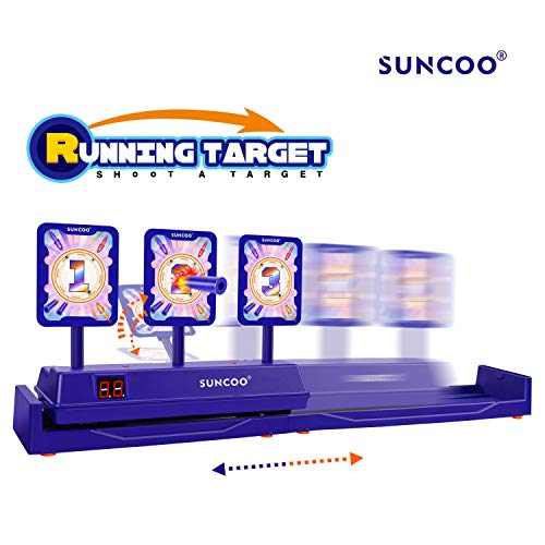 SUNCOO Running Targets Shooting Electronic Scoring Auto Reset Digital Targets for Nerf Guns Toys(2019 New Version) (Target For Gun)