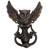 Design Toscano Mystical Spirit Owl Authentic Foundry Iron Door Knocker