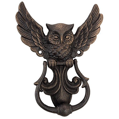 (Design Toscano Door Knocker Mystical Spirit Owl Foundry Iron)