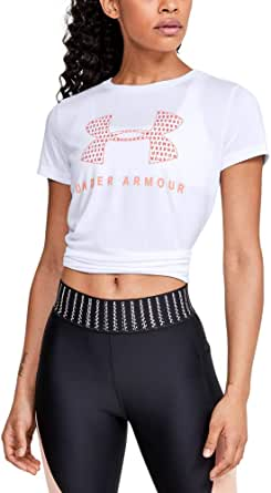Under Armour Women's Tech Logo Graphic Crew Neck Short Sleeve Shirt