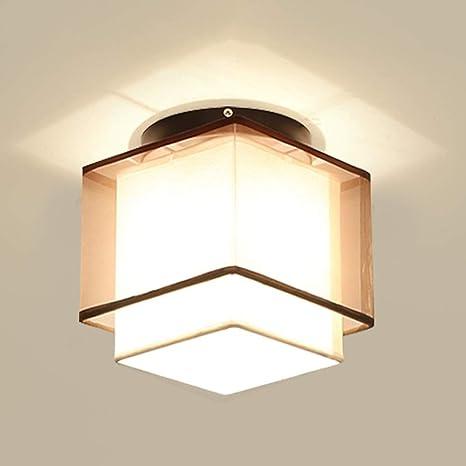 Golden Brown Linen Eye Shade Hierro forjado LED Lámpara de ...
